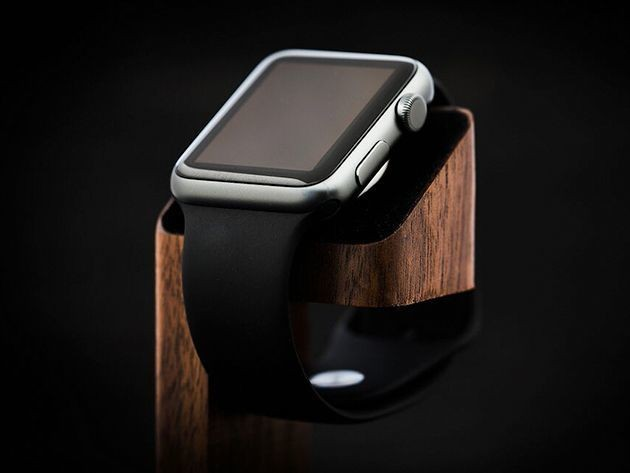 Place your Apple Watch on a powered podium with this sleek wooden dock [Deals]