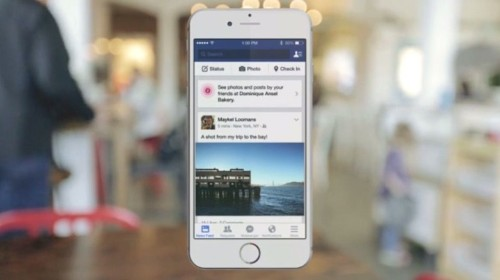 Facebook's iOS app will start recommending nearby places to you