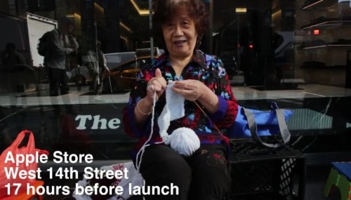 Video shows how black market took over the iPhone 6 lines