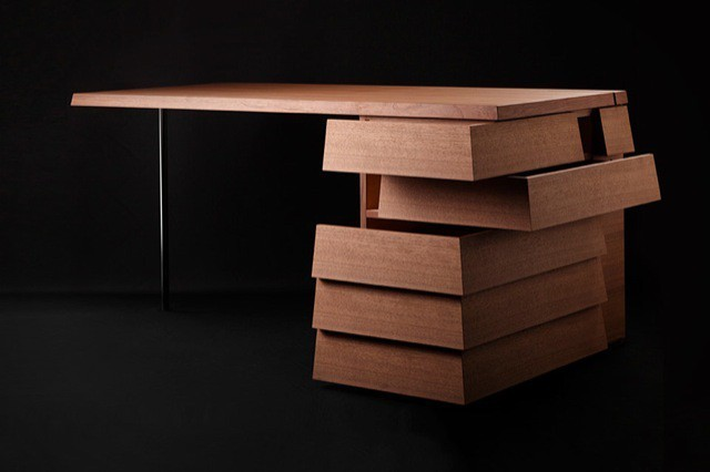 $6,000 Walnut Desk With Clever Dual-Opening Drawers