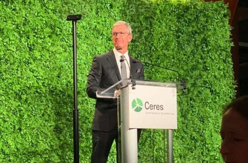 Tim Cook talks climate change at sustainability nonprofit event in New York
