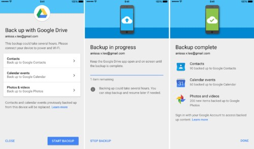 You can now use Google Drive to switch from iPhone to Android