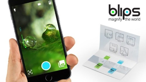 Blips sticker turns your iPhone into a microscope