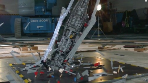 Massive LEGO Star Wars ship destroyed in high-def slo-mo