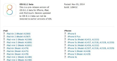 iOS 8.1.1 may arrive as early as today
