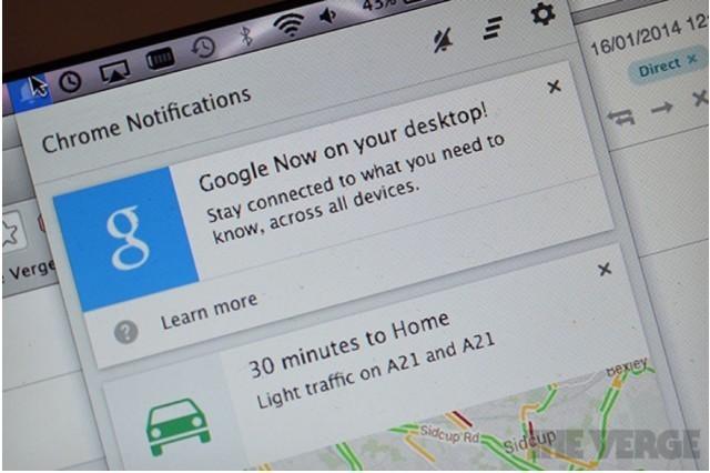 Google Now Comes To The Mac Through Chrome