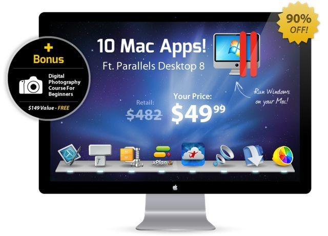 Ending Soon: Get 10 Mac Apps for $49.99 Including Parallels With The Summer 2013 Mac Bundle [Deals]