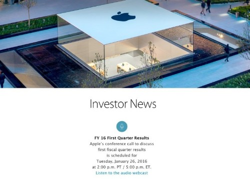 iPhones, iPads and Mac, oh my! Apple's next big earnings call will be January 26