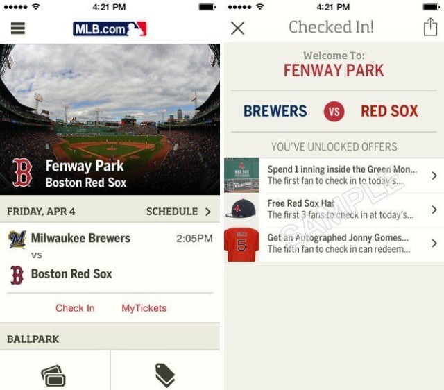 MLB.com At the Ballpark Adds iBeacon Support