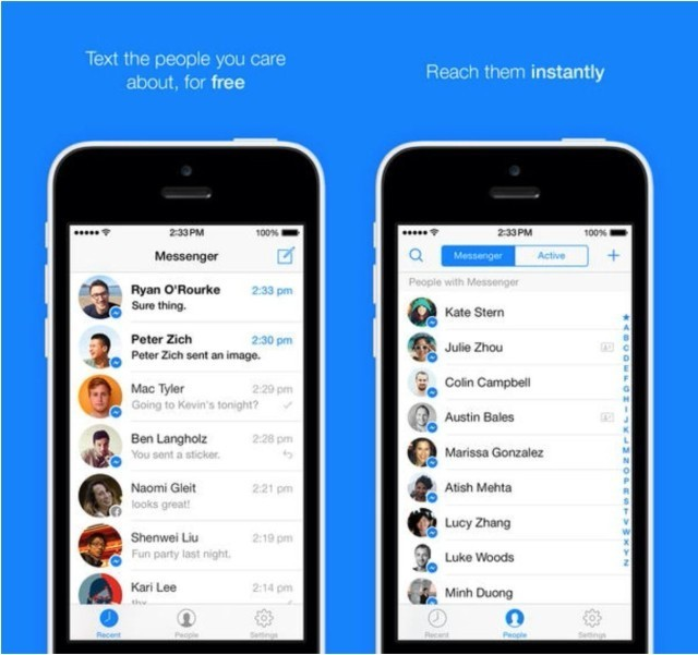 Completely Redesigned Facebook Messenger iOS 7 App Now Available