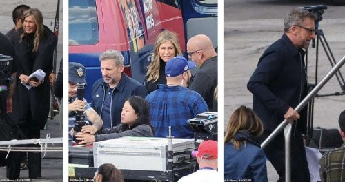 Jennifer Aniston and Steve Carell reunite on set of Apple TV series