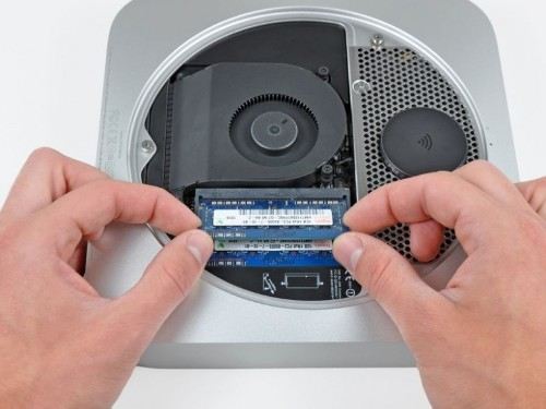 You can no longer add more RAM to the Mac mini