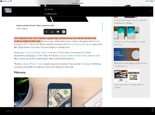 Highly highlights text on webpages and iPhone
