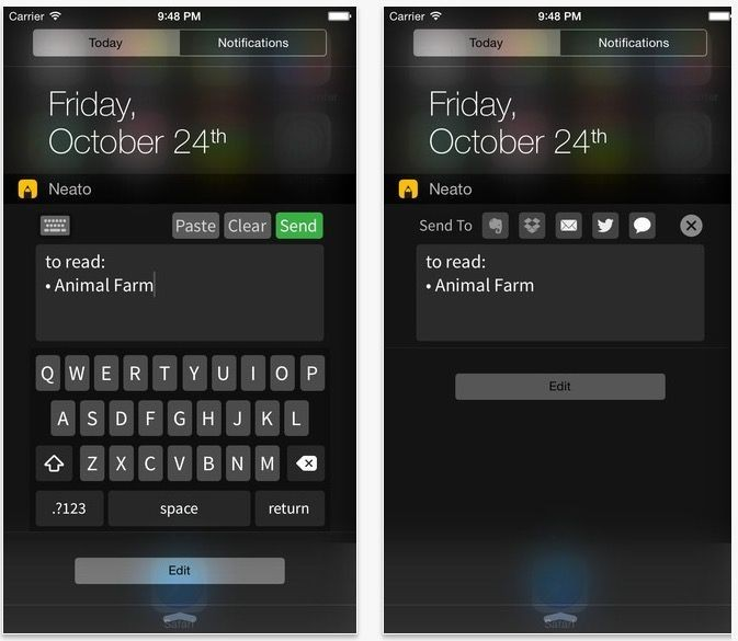 This free iOS 8 widget lets you use Notification Center as a notepad