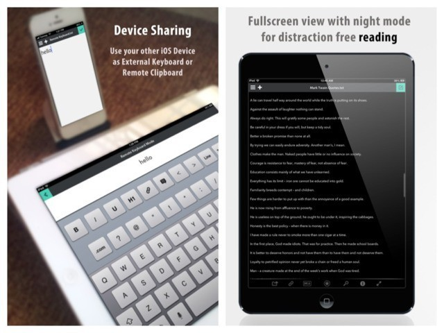 Write For iPad With Remote Keyboard And Clipboard Sync