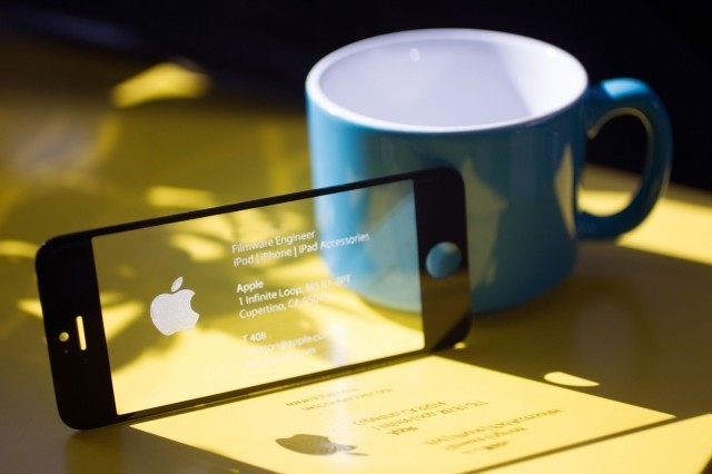 This badass business card is made from an iPhone screen