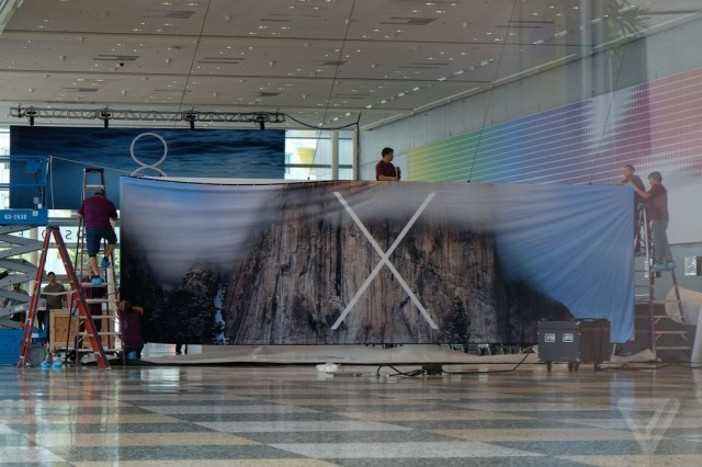 WWDC banner points to OS X 10.10 being called Yosemite