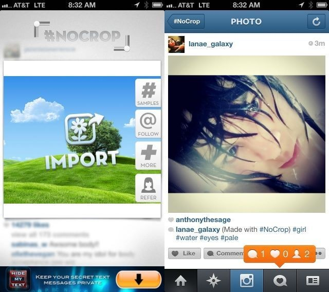 Upload Full-Size Photos To Instagram With #NoCrop [iOS Tips]