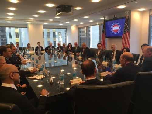 Tim Cook and other tech titans meet Trump in his tower