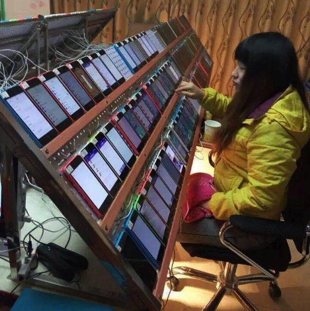 Crazy iPhone rig shows how Chinese workers manipulate App Store rankings