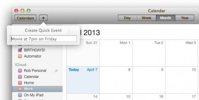 Mastering Mac OS X Calendar: Create A Quick Event Using Natural Language [OS X Tips]