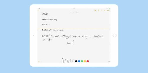 Notes app gets new turbocharged text tools in iOS 11
