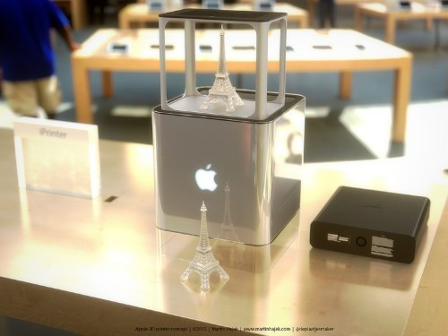 What Apple's 3-D printer could look like: a Makerbot G4 Cube