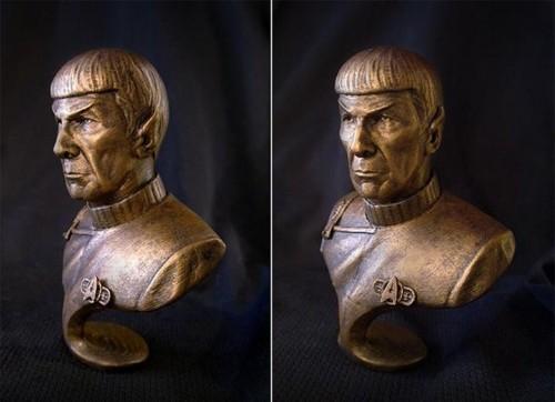Enterprise-ing 3D artist honors Leonard Nimoy with Mr. Spock bust