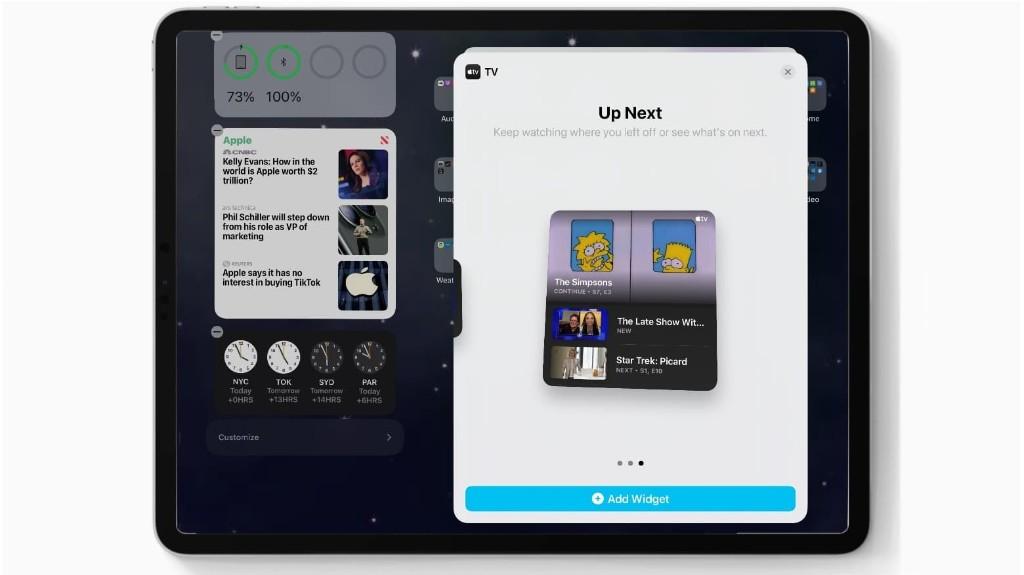 iPadOS 14 and iOS 14 Beta 4 add TV widget, fix bugs