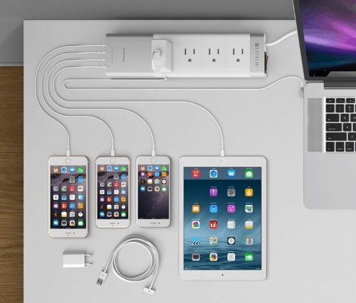 This power strip will take all devices and not overcharge