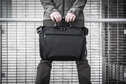 Carry your 15-inch MacBook Pro in style with this gorgeous saddle bag