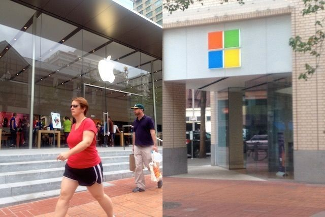 A tale of two stores: Apple vs Microsoft