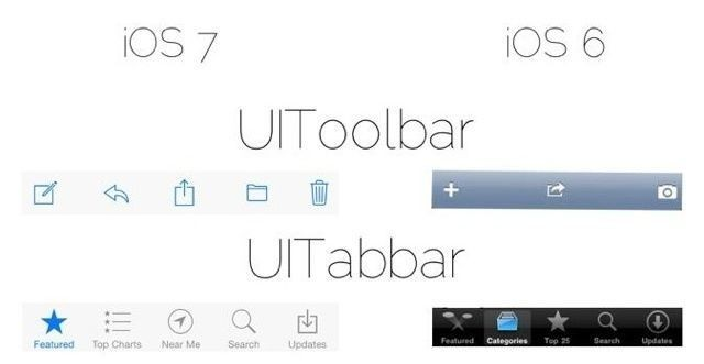 Here Are Some Of The Smallest UI Changes Between iOS 6 And iOS 7 [Image]