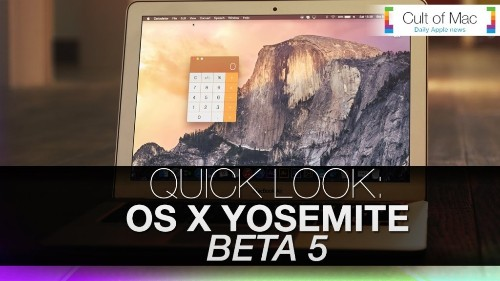 See OS X Yosemite's Beta 5 changes in action