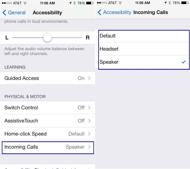 Set Incoming Calls To Headset Or Speaker On Your iPhone With iOS 7 Beta [iOS Tips]