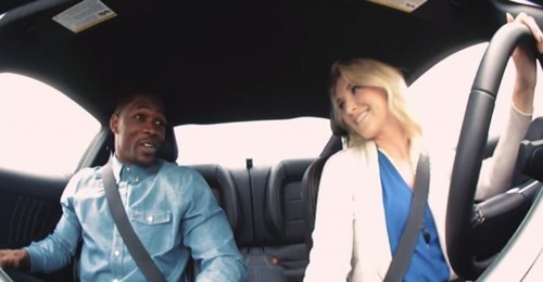 Stunt driver takes blind dates on ride of their lives