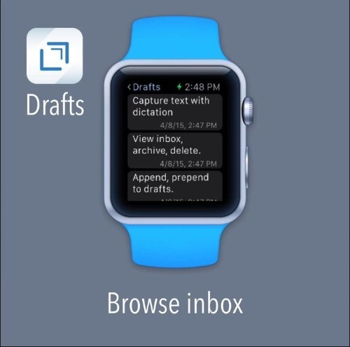 Drafts, iOS's best note-taking app, will be even better on the Apple Watch