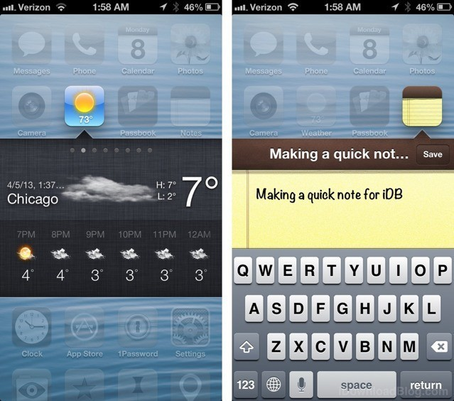 Velox Tweak: Use Apps As Notification-Center-Style Widgets On Home Screen [Jailbreak]