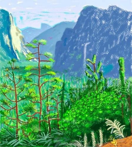 Spring arrives early in David Hockney's iPad art exhibition
