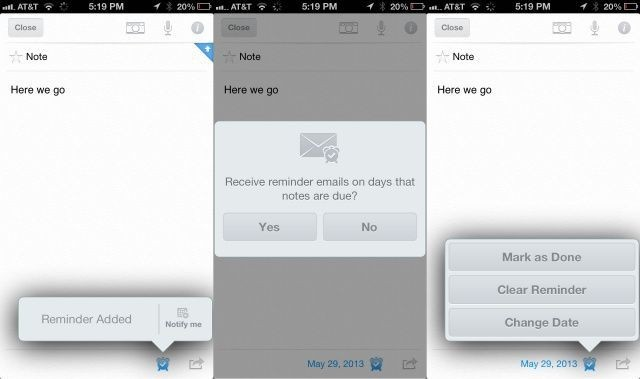 Create and Manage Evernote Reminders On Your iPhone Or iPad [iOS Tips]