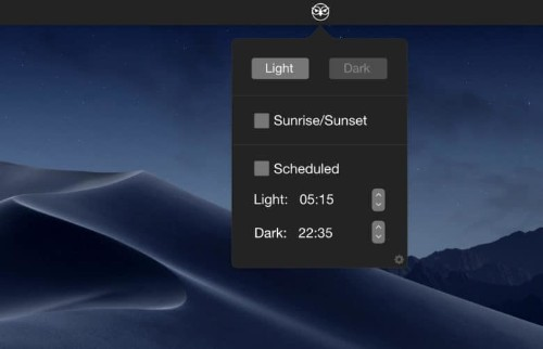 NightOwl switches on Mojave's Dark Mode at sundown