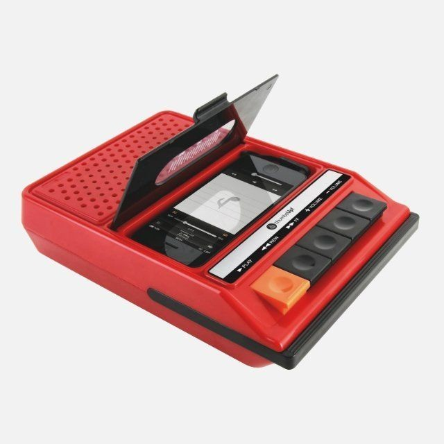 The iRecorder, An iPhone Speaker Styled Like a 1980s Cassette Player