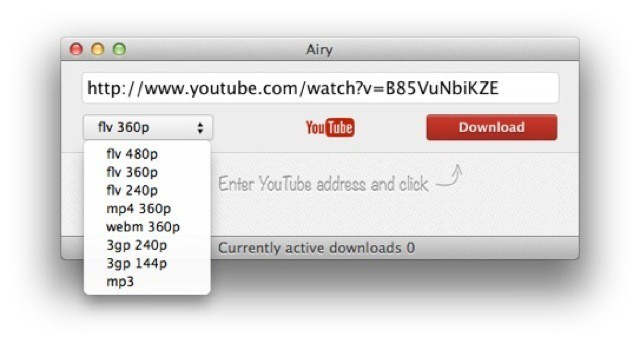 Airy App Rips MP3 Tracks From YouTube Videos