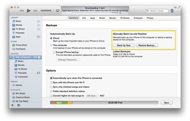 Get Your iPhone Ready For iOS 7 – Make A Good Backup Today [iOS Tips]