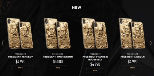 Gold-plated iPhones are a pricey way to observe Presidents Day