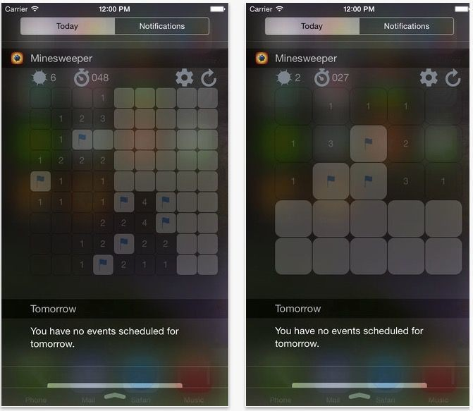You can now play Minesweeper in Notification Center!