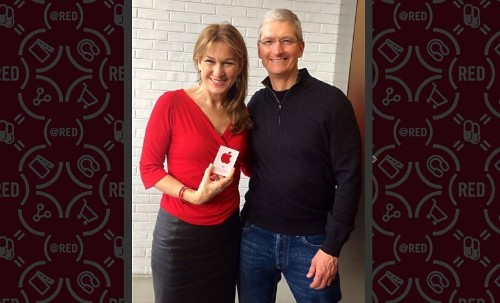 Tim Cook joins RED brigade for World AIDS Day