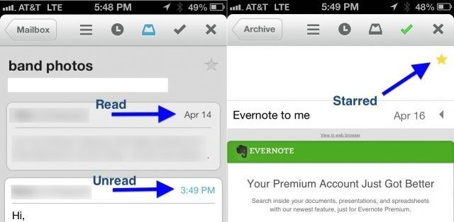 Star And Mark Mail Unread Using Mailbox for iPhone [iOS Tips]