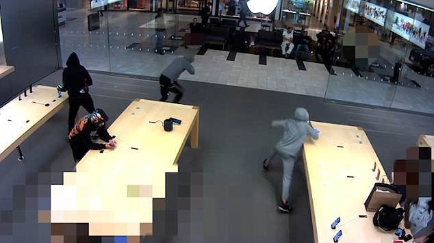 Gang of thieves snatches $19,000 of iPhones from Apple Store