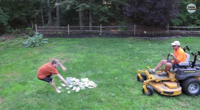 Dad mows down video games and we can't stop watching
